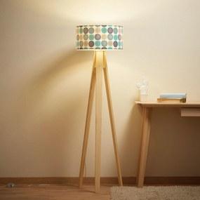 Stojaca lampa Aqua s trojnohým dreveným rámom