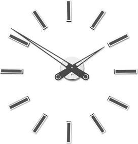 Designové nalepovací hodiny Future Time FT9600TT Modular titanium 60cm