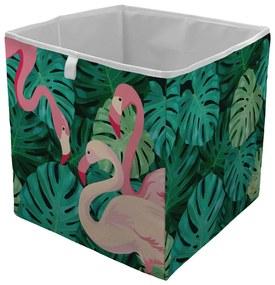 Home farebný úložný box Butter Kings Flamingos In Jungle