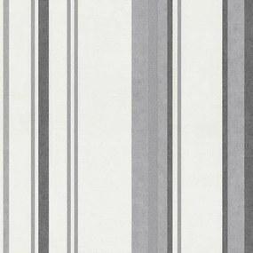 Vliesové tapety, pruhy sivé, Dieter Bohlen Spotlight 245910, P+S International, rozmer 10,05 m x 0,53 m