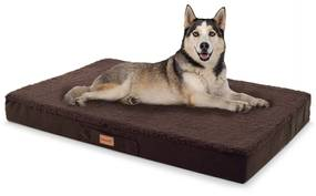 Balu, pelech pre psa, vankúš pre psa, možnosť prania, ortopedický, protišmykový, priedušná pamäťová pena, veľkosť L (100 × 10 × 65 cm)