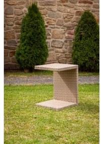 Odkládací stolek k lehátkům Barva tmavě hnědá Dimenza 86