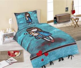 Santoro London - Posteľné prádlo 140x200cm + 70x90cm - Gorjuss - Hush Little Bunny