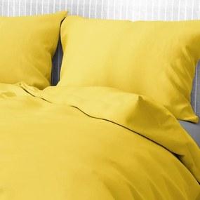 Goldea bavlnené posteľné obliečky - žlté 140 x 200 a 70 x 90 cm