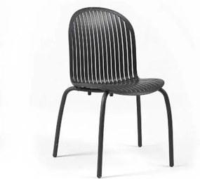 Ninfea Dinner stolička antracitová