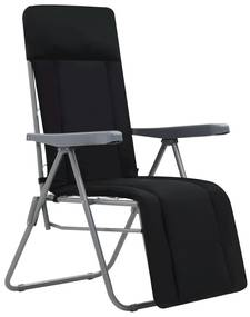 vidaXL Skladacie záhradné stoličky s podložkami 2 ks, čierne