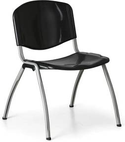 Jedálenská stolička Livorno Plastic, čierna