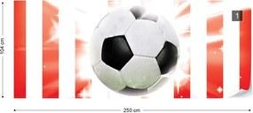 Fototapeta GLIX - Football Red And White Stripes + lepidlo ZADARMO Vliesová tapeta  - 250x104 cm
