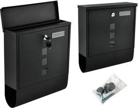Malatec Poštová schránka na listy, čierna, 6244