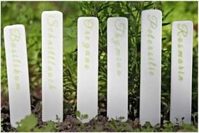Sada 6 porcelánových štítkov na bylinky Boltze Herb