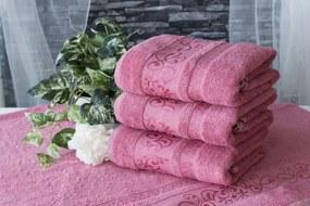 XPOSE ® Bambusový ručník CATANIA - pudrová 50x90 cm