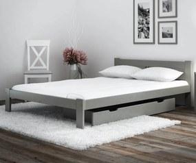 AMI nábytok Postel borovice ESM1 VitBed 140x200cm masiv šedá