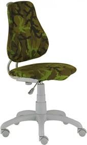 ALBA Detská rastúca otočná stolička FUXO ARMY