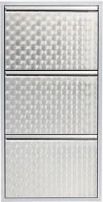 KARE DESIGN Botník Caruso 3 Silver brushed