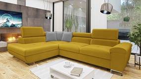 Luxusná sedacia súprava Cinnamon, žltá Velvet Roh: Orientace rohu Levý roh