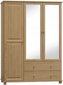 AMI nábytok skříň 3Dč6 šířka 120 borovice