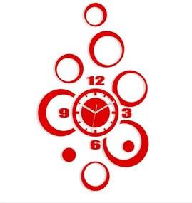 Mazur 3D nalepovacie hodiny Alladyn červené
