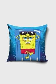 Obliečka na vankúšik Spongebob na lehátku modrá