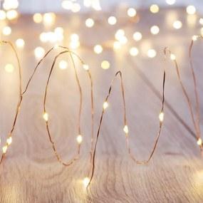LED svetelná reťaz s diaľkovým ovládaním DecoKing Wire, 100 svetielok, dĺžka 2,3 m