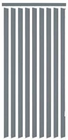 Vertikálne látkové rolety, sivé, 195x180 cm