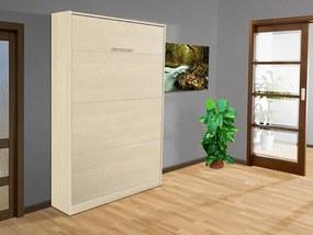 Nabytekmorava Sklápacia posteľ VS 3054 P - 200x90 cm nosnost postele: štandardná nosnosť, farba lamina: breza 1715