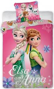 Obliečky do postieľky Ľadové kráľovstvo - Frozen sisters 100x135 40x60 cm 100% Bavlna Jerry Fabrics
