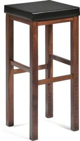 Barová stolička Lawton, orech, čierny sedák