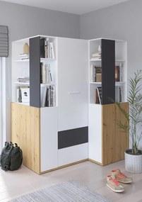 WIP Detská izba HEY 6 Farba: Dub artisan/biela/grafit