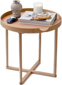Odkladací stolík z dubového dreva s odnímateľnou doskou Wireworks Damieh, 45 × 45 cm