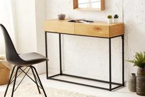 IIG -  Priemyselný stôl ELEMENTS 100 cm dub so zásuvkami