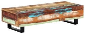 vidaXL Konferenčný stolík 120x50x30 cm masívne recyklované drevo a oceľ