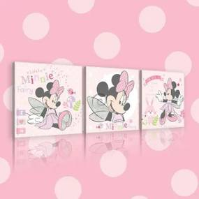Obraz na plátne viacdielny - OB2624 - Minnie Mouse 75cm x 25cm - S13