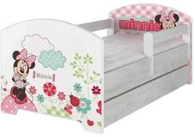 MAXMAX Detská posteľ Disney - MYŠKA MINNIE 140x70 cm