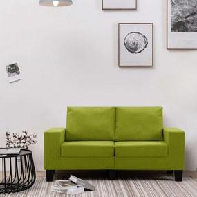 vidaXL 2-miestna pohovka, zelená, látka