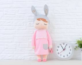 Metoo bábika XL v ružových šatách - Bábika 70cm bez mena