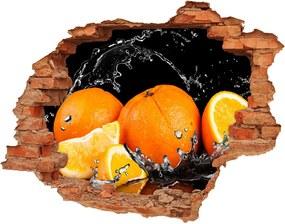 Fototapeta diera na stenu Pomaranče a voda WallHole-cegla-90x70-89166041