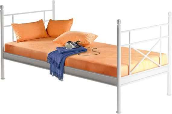 29c81d88cf7e Biela kovová jednolôžková posteľ Støraa Tanja