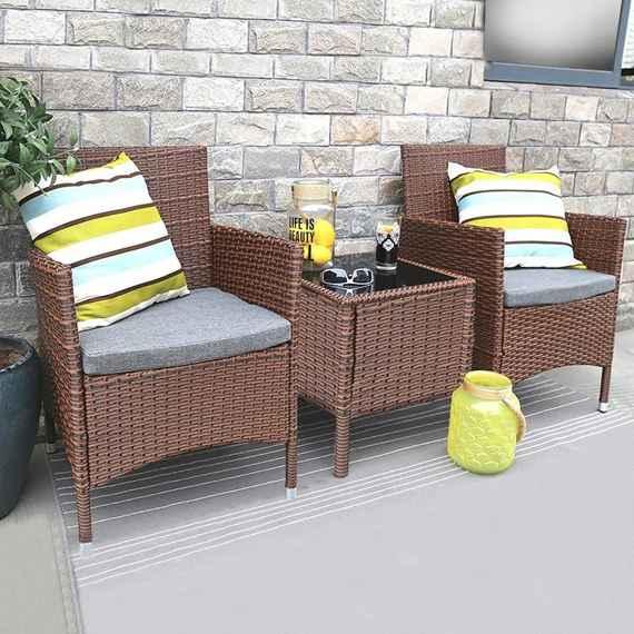 59ac6f06ce54 Set zahradního nábytku 5-dílný AVENBERG RIMINI