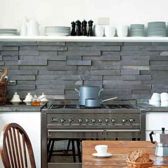 907939162cf8a Kuchynská tapeta zástena KitchenWalls - Slate Tiles 1437 (300 x 60 cm)