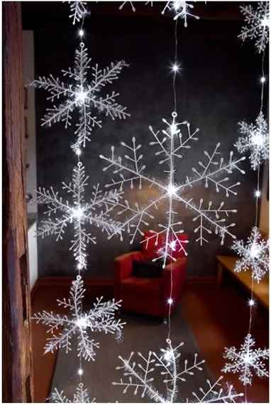 Hellum Svietiace snehové vločky LED d00a198bde4