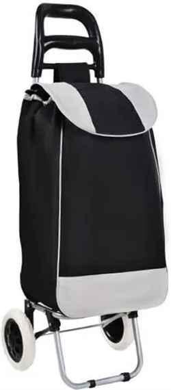 e558b52b0b576 ISO Nákupná taška na kolieskach 25L, čierno - šedá