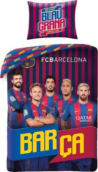 a0c1e70b56f54 Halantex povlečení FC Barcelona 8017BL 140x200cm + 70x90cm