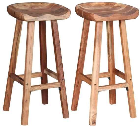 4d2beca6cc24 Drevené barové stoličky vo vintage štýle