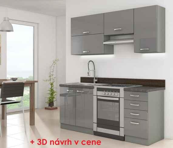 833edbda97fac 258,00 EUR Kuchynská linka GREY 180 SP + 3D návrh v cene