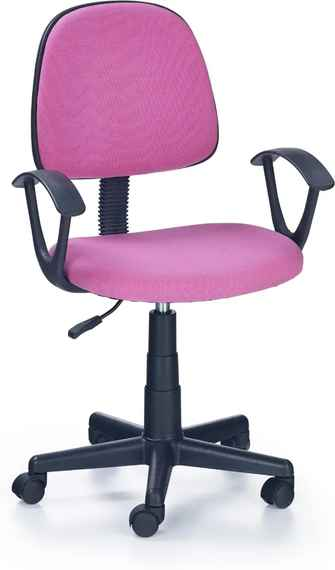 0992f7a69714 MAXMAX Detská otočná stolička DAMIAN ružová