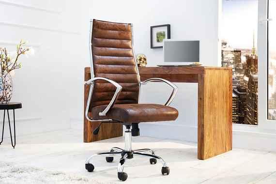 119f352ca48c Bighome - Kancelárska stolička DEALS - antická hnedá