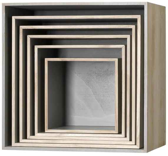 104b3dfd47337 Bloomingville Nástenný box Nature/Grey Veľkosť 3