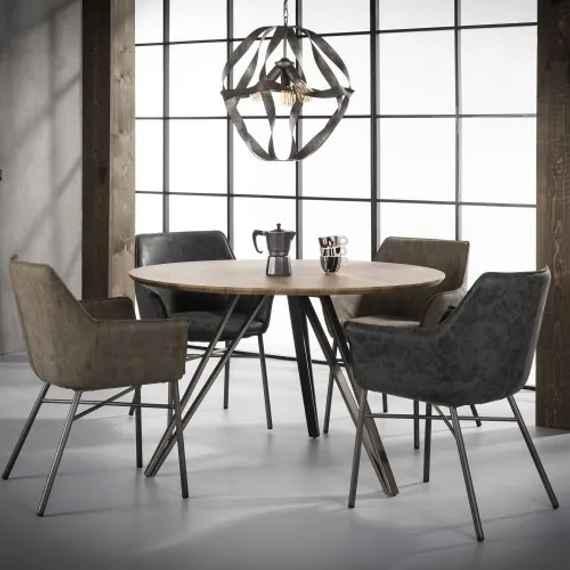 163720245f91 Jedálenský stôl 56-33 Ø120cm V frame-Komfort-nábytok