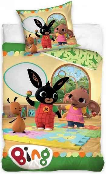 c25248f37 Carbotex · Detské posteľné obliečky Zajačik Bing a Sula - 100% bavlna -  70x80 cm