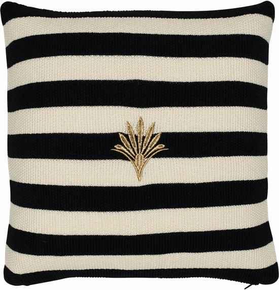 GREEN GATE Pletený poťah na vankúš Stripe black 45x45 8db1d12876